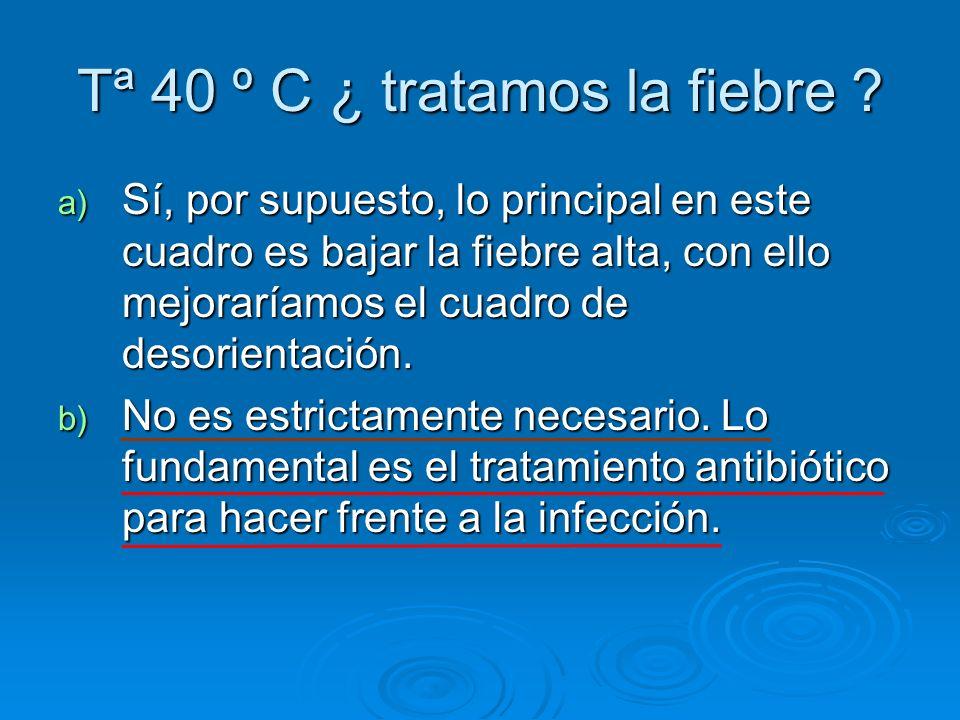 Tª 40 º C ¿ tratamos la fiebre