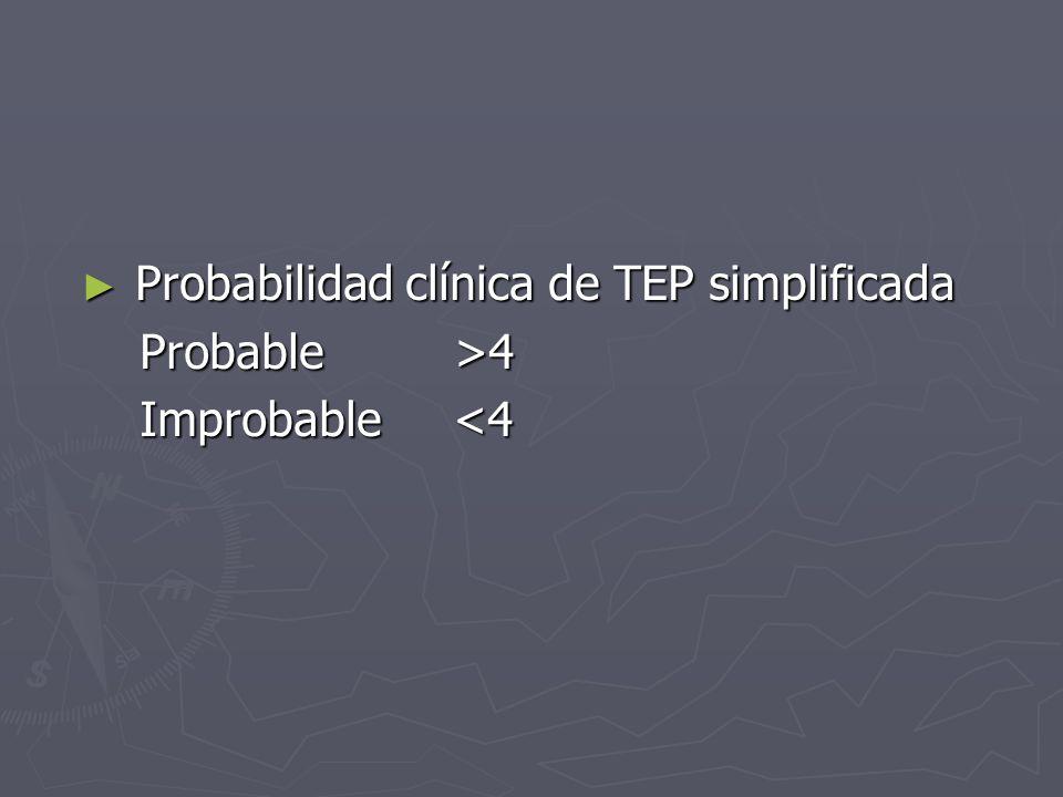 Probabilidad clínica de TEP simplificada