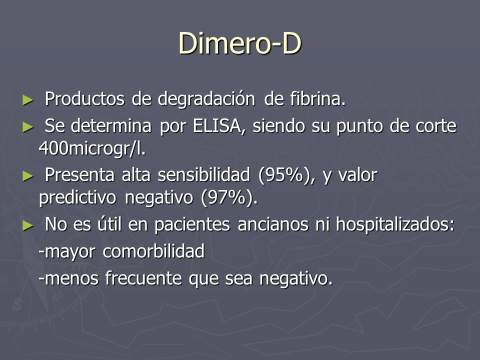 Dimero-D Productos de degradación de fibrina.