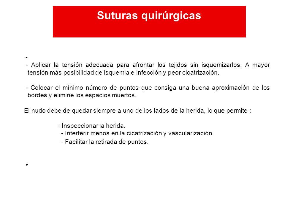 Suturas quirúrgicas Suturas quirúrgicas