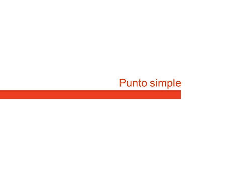 Punto simple