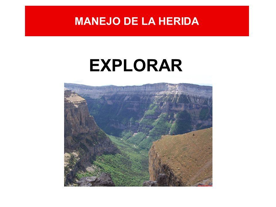 MANEJO DE LA HERIDA EXPLORAR