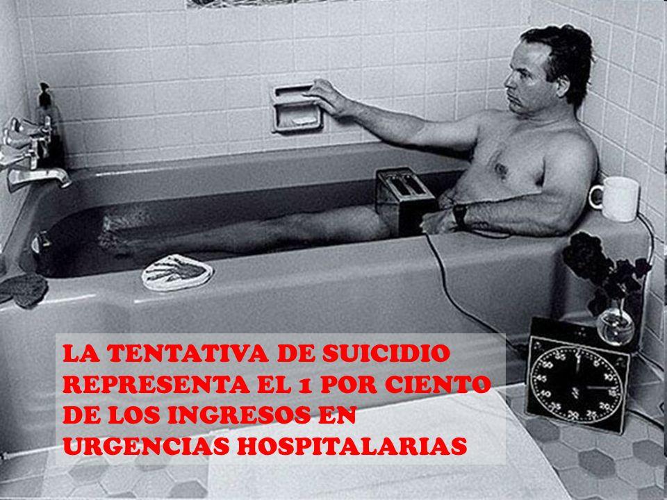 LA TENTATIVA DE SUICIDIO REPRESENTA EL 1 POR CIENTO DE LOS INGRESOS EN URGENCIAS HOSPITALARIAS