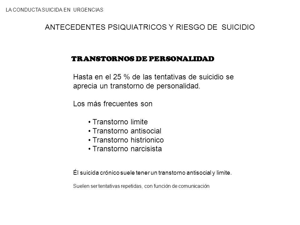 ANTECEDENTES PSIQUIATRICOS Y RIESGO DE SUICIDIO