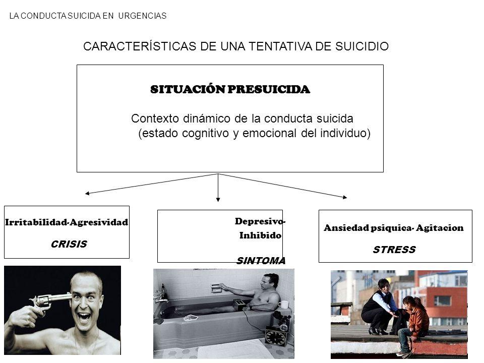 CARACTERÍSTICAS DE UNA TENTATIVA DE SUICIDIO