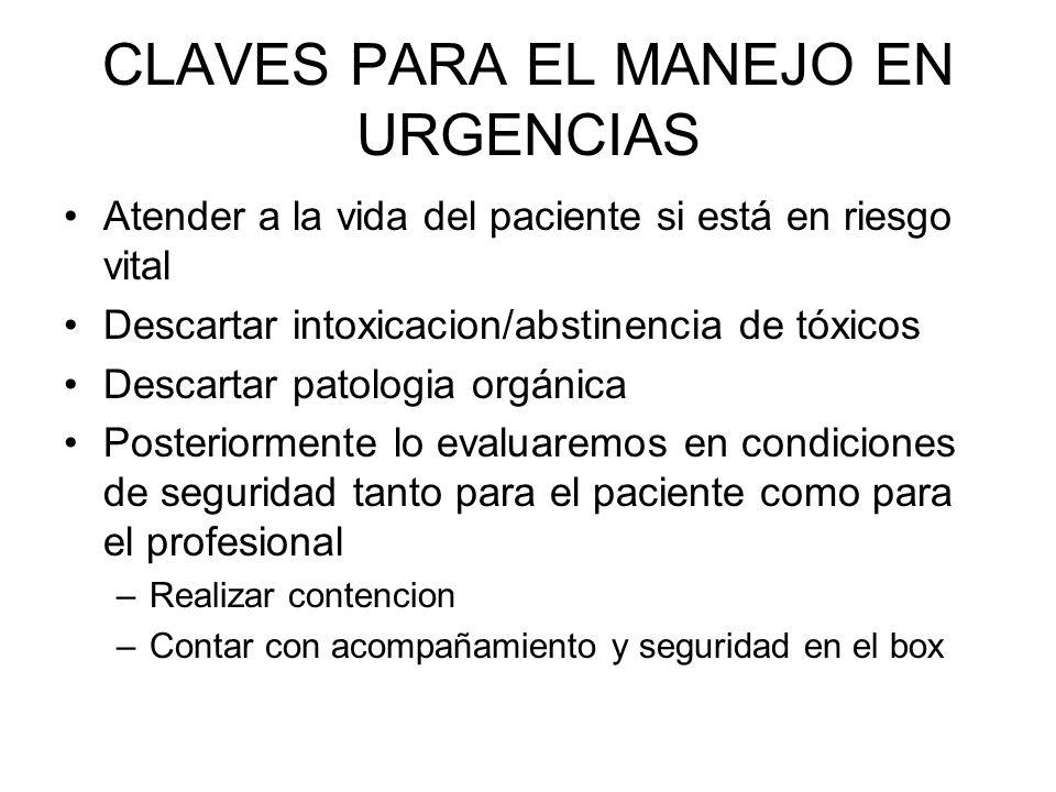 CLAVES PARA EL MANEJO EN URGENCIAS
