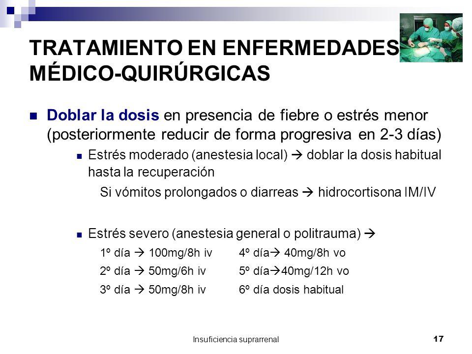 TRATAMIENTO EN ENFERMEDADES MÉDICO-QUIRÚRGICAS