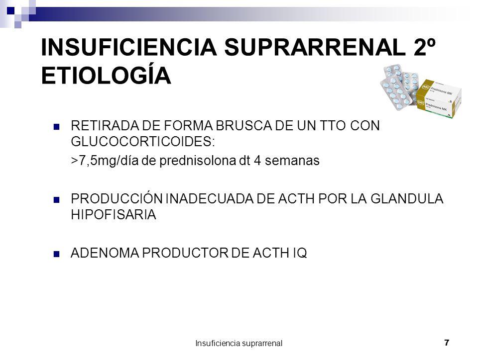 INSUFICIENCIA SUPRARRENAL 2º ETIOLOGÍA