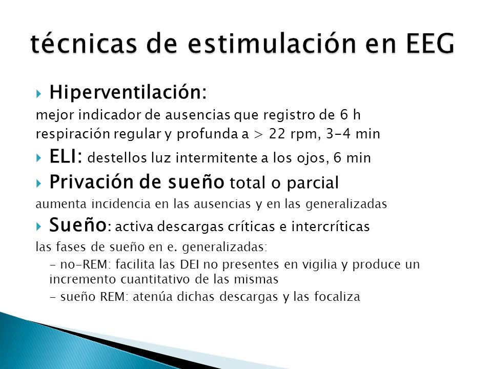 técnicas de estimulación en EEG