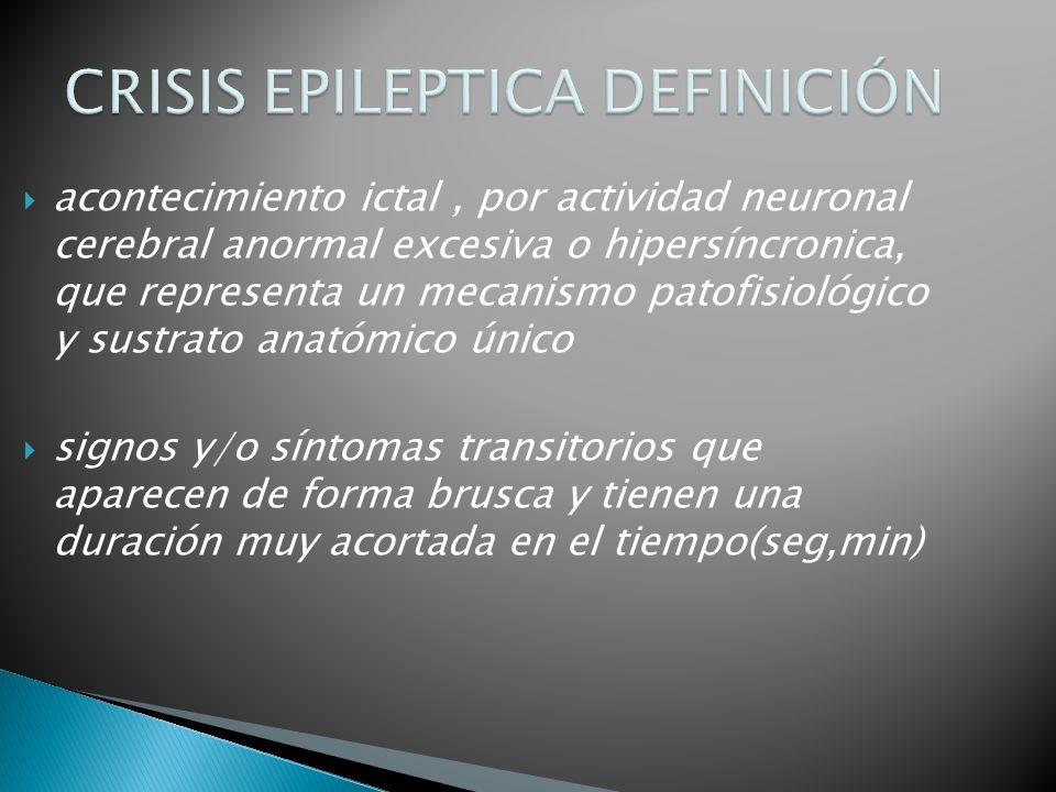 CRISIS EPILEPTICA DEFINICIÓN