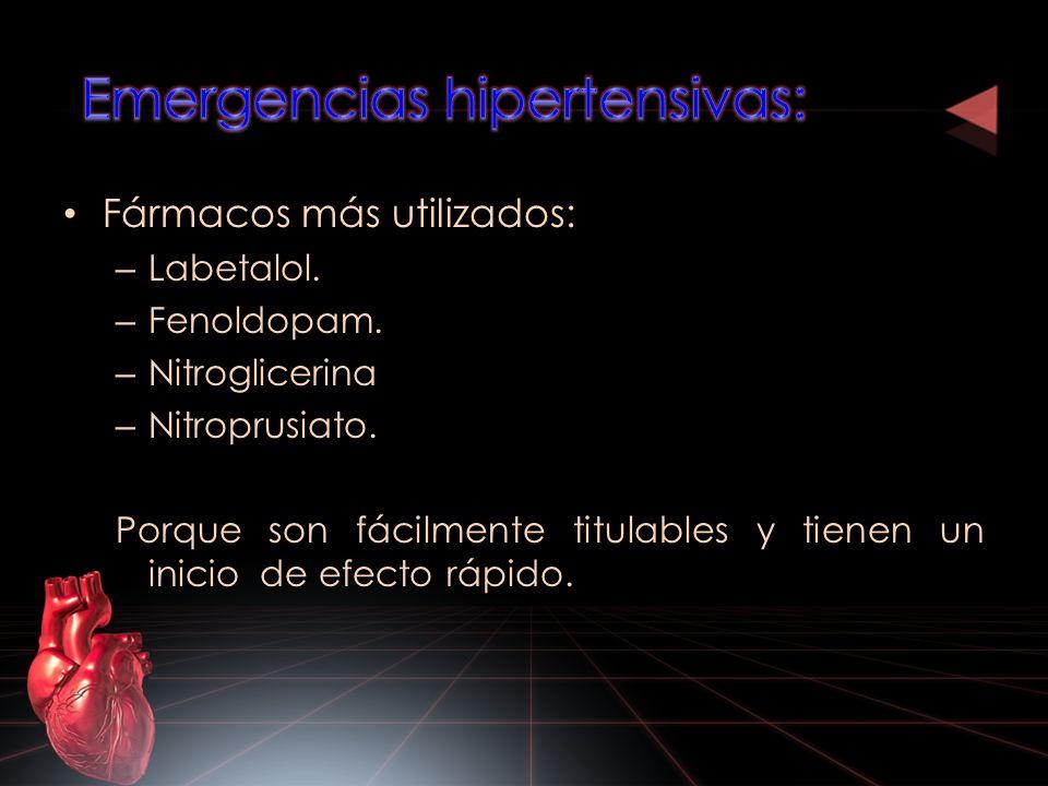 Emergencias hipertensivas: