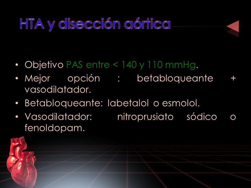 HTA y disección aórtica