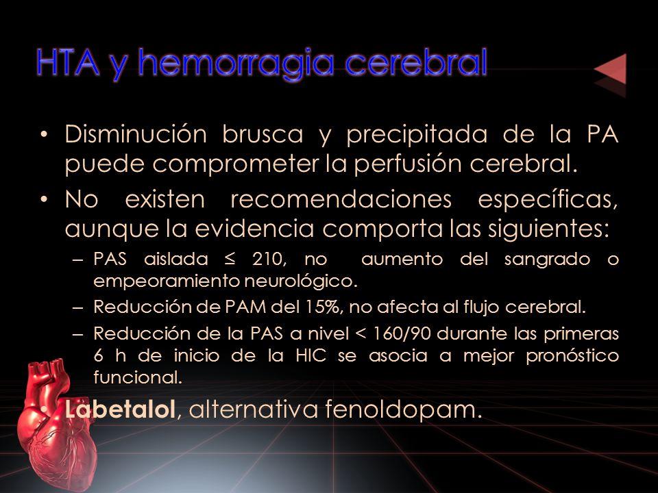 HTA y hemorragia cerebral
