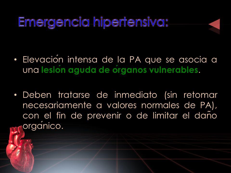 Emergencia hipertensiva: