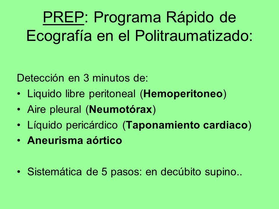 PREP: Programa Rápido de Ecografía en el Politraumatizado: