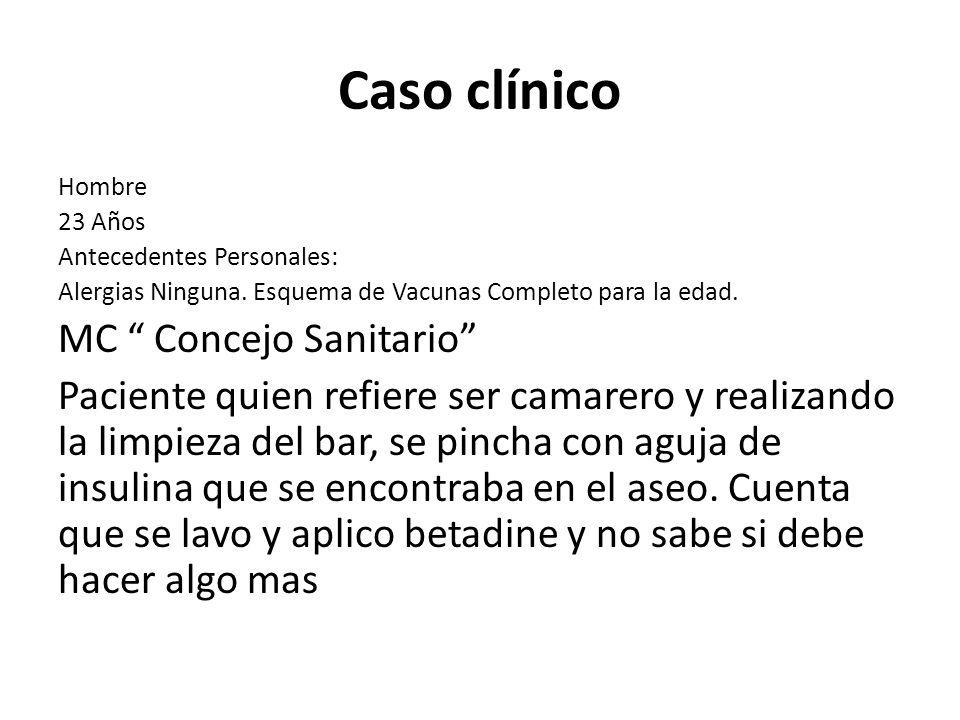 Caso clínico MC Concejo Sanitario