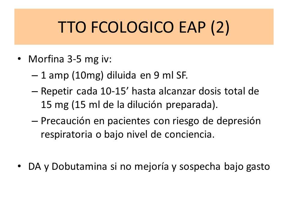 TTO FCOLOGICO EAP (2) Morfina 3-5 mg iv: