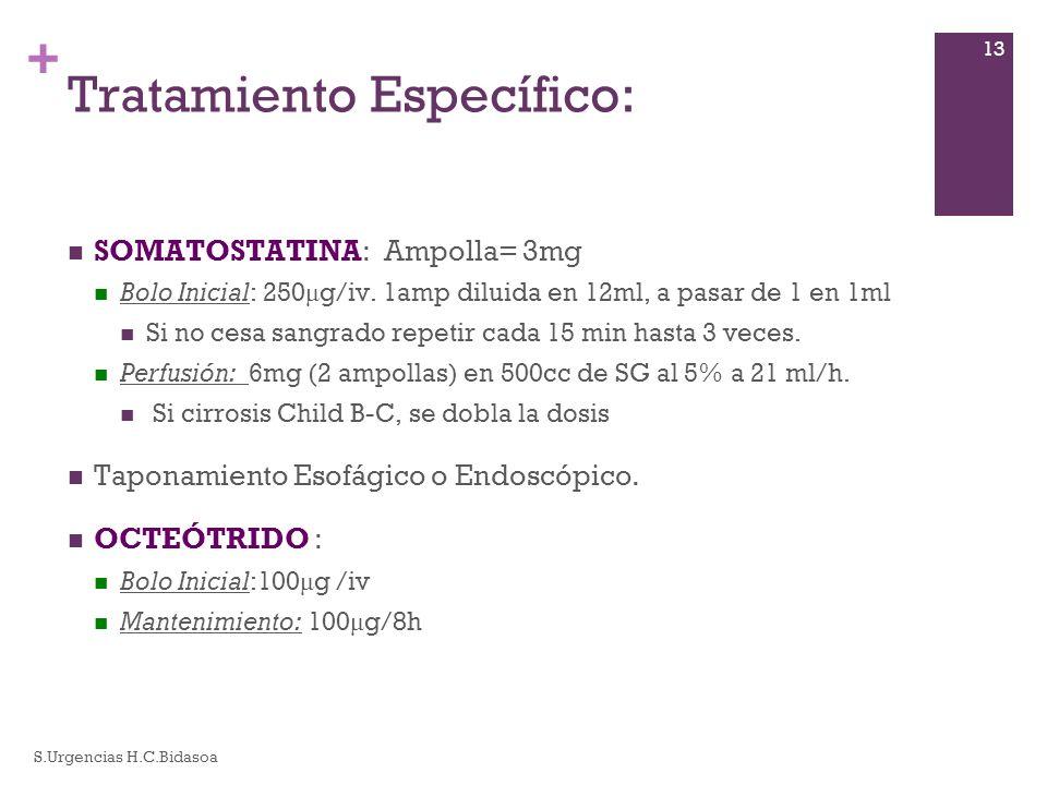 Tratamiento Específico: