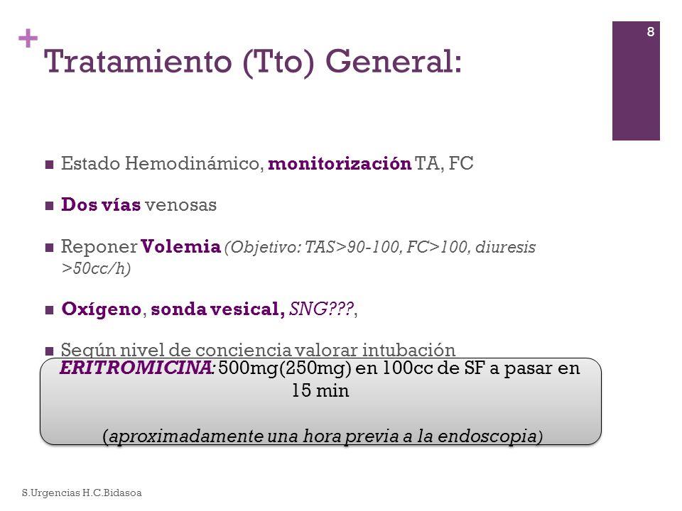 Tratamiento (Tto) General: