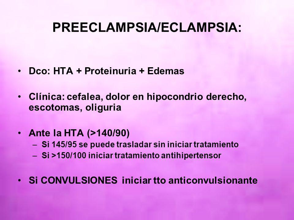 PREECLAMPSIA/ECLAMPSIA: