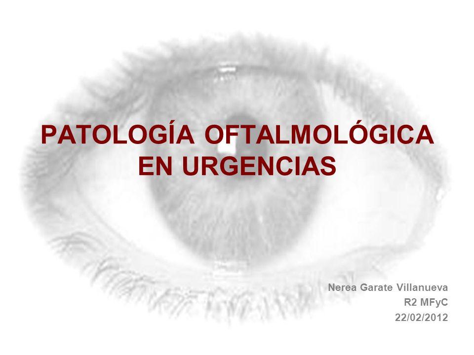 PATOLOGÍA OFTALMOLÓGICA EN URGENCIAS