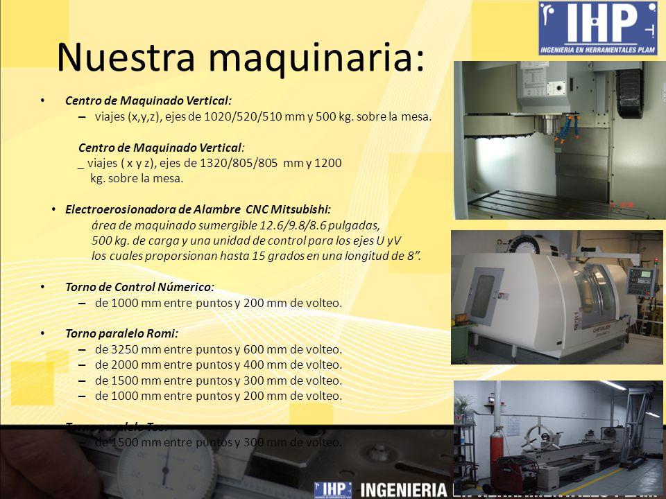 Nuestra maquinaria: Centro de Maquinado Vertical: