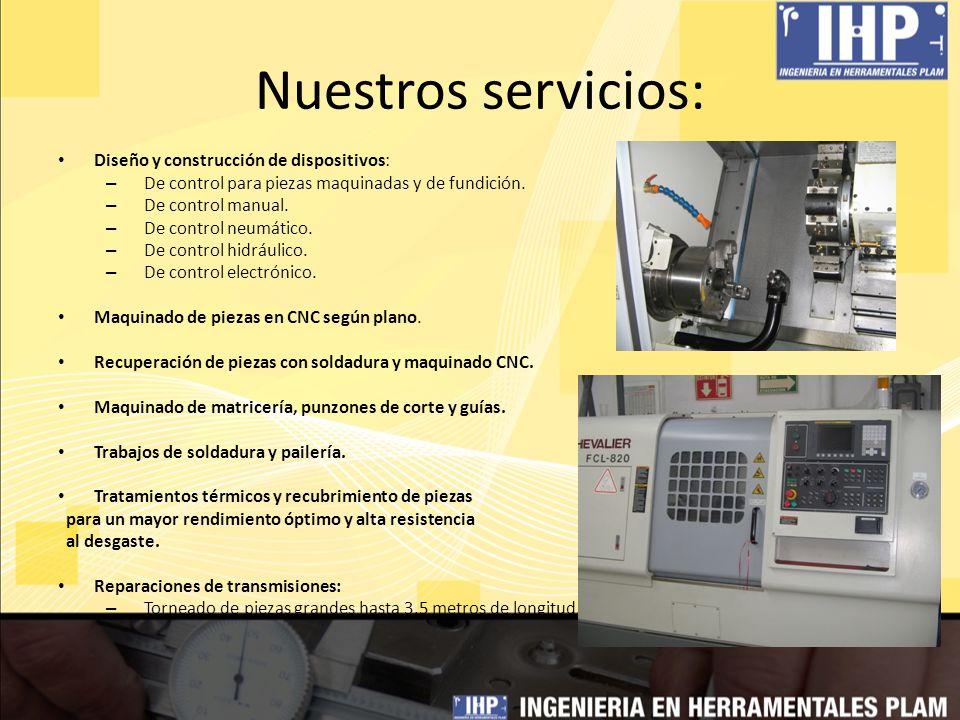 Nuestros servicios: Diseño y construcción de dispositivos: