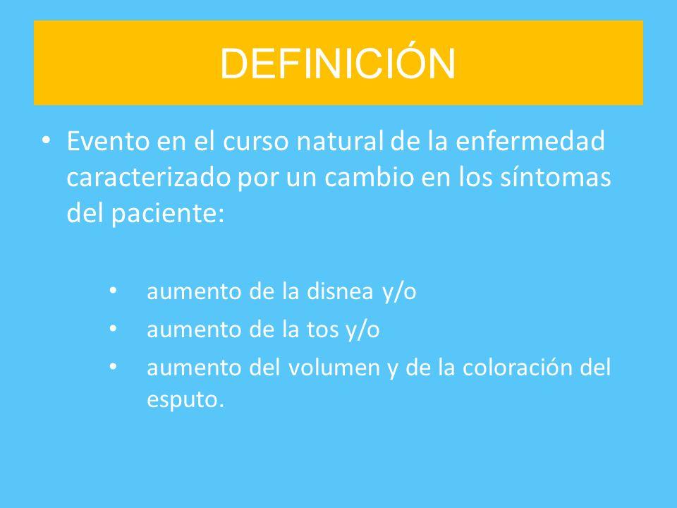 DEFINICIÓN Evento en el curso natural de la enfermedad caracterizado por un cambio en los síntomas del paciente: