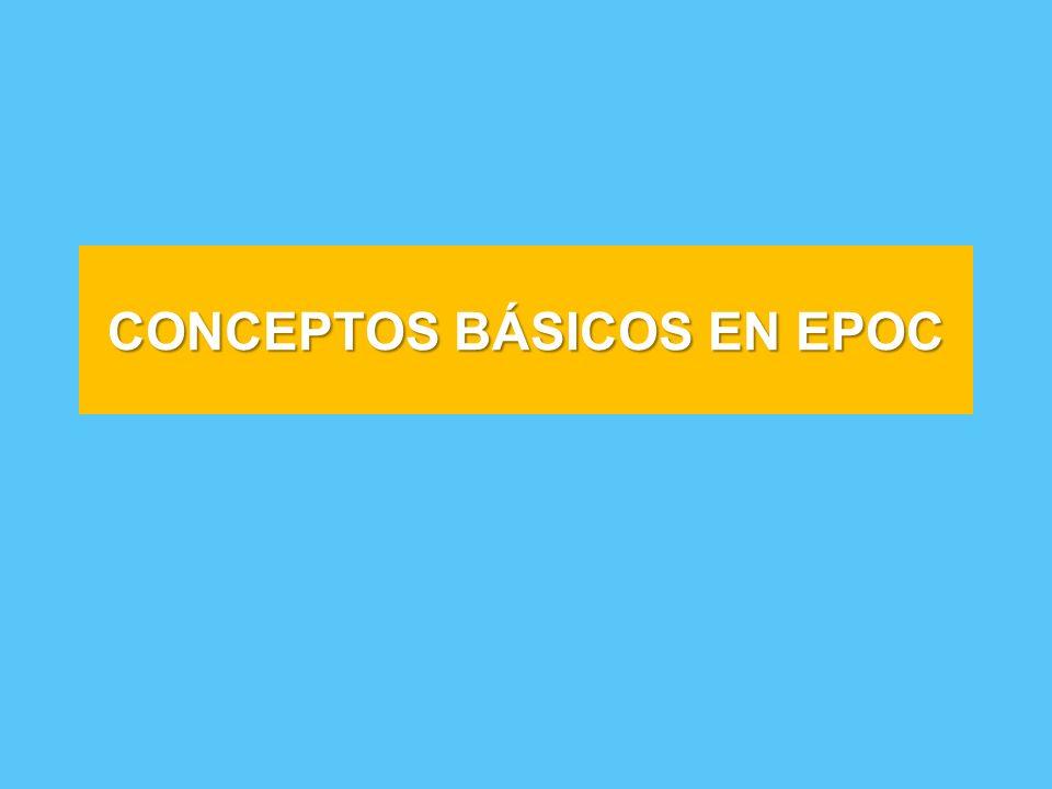 CONCEPTOS BÁSICOS EN EPOC