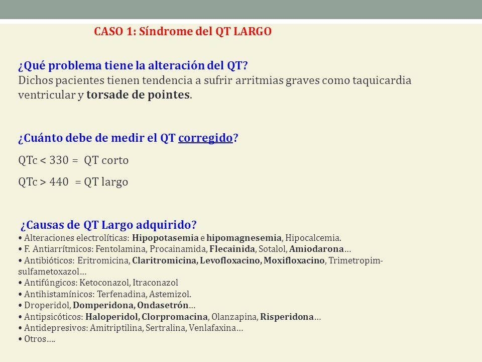 CASO 1: Síndrome del QT LARGO
