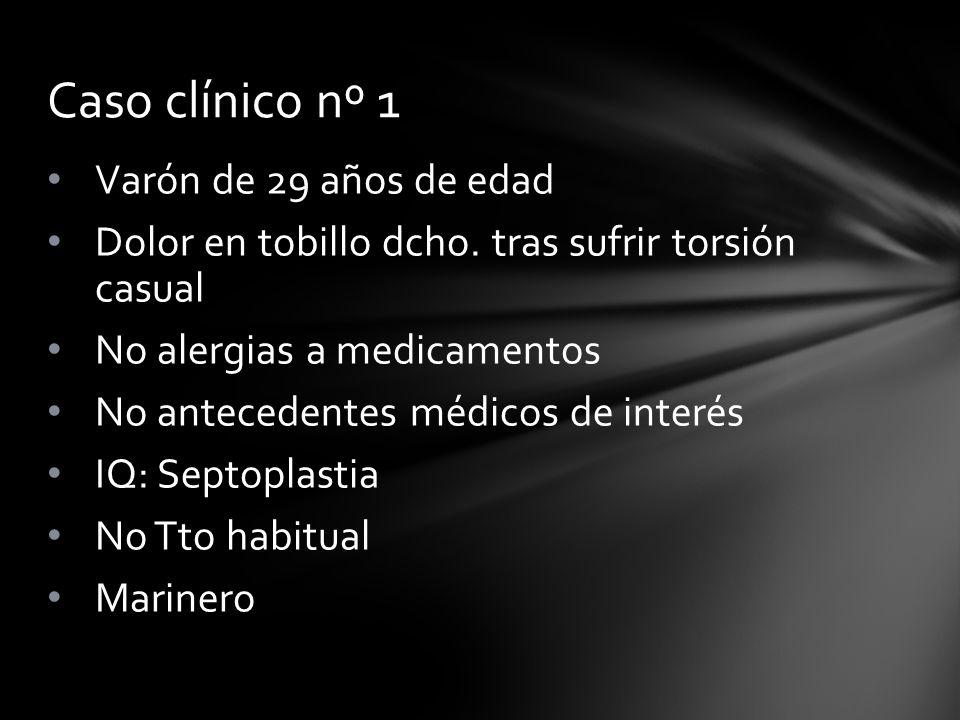 Caso clínico nº 1 Varón de 29 años de edad