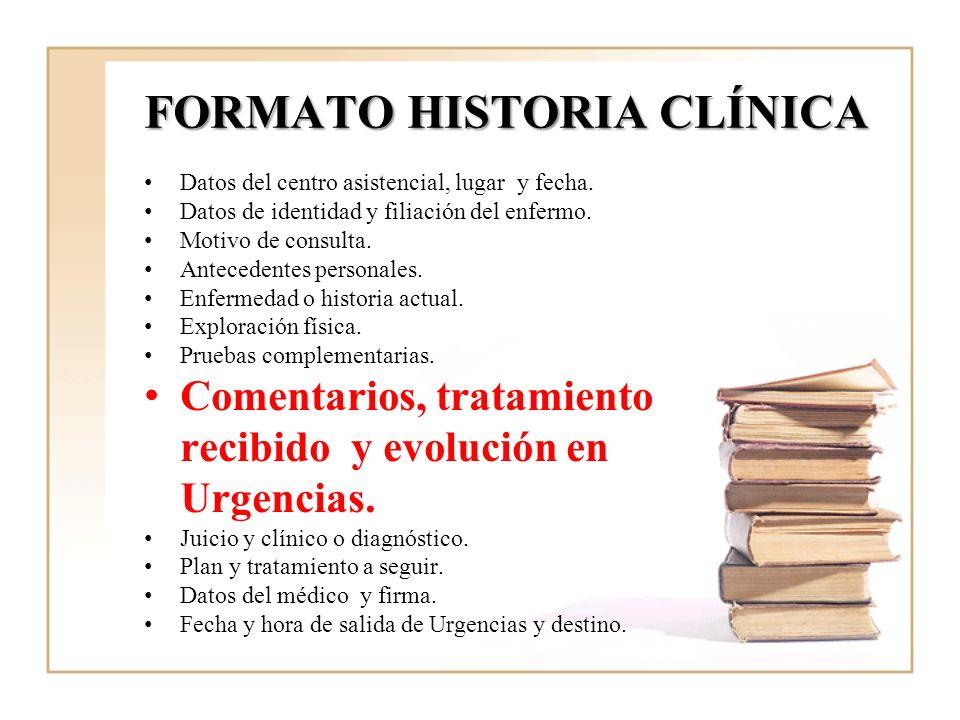FORMATO HISTORIA CLÍNICA