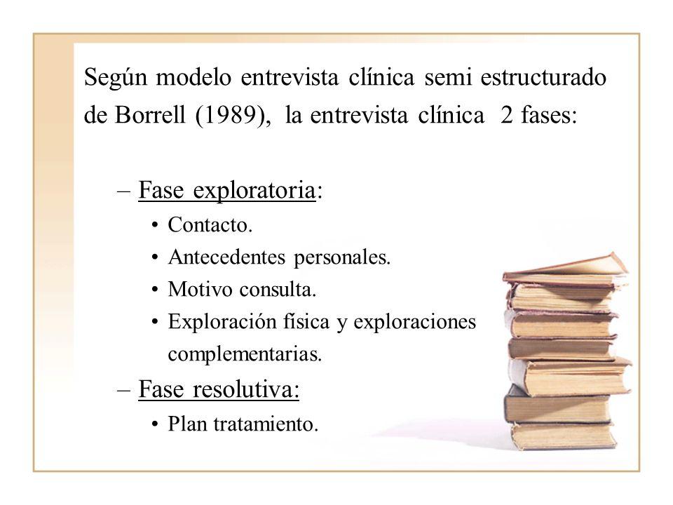 Según modelo entrevista clínica semi estructurado