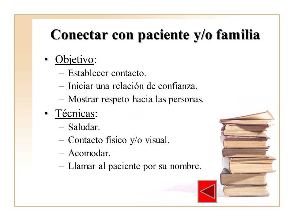 Conectar con paciente y/o familia