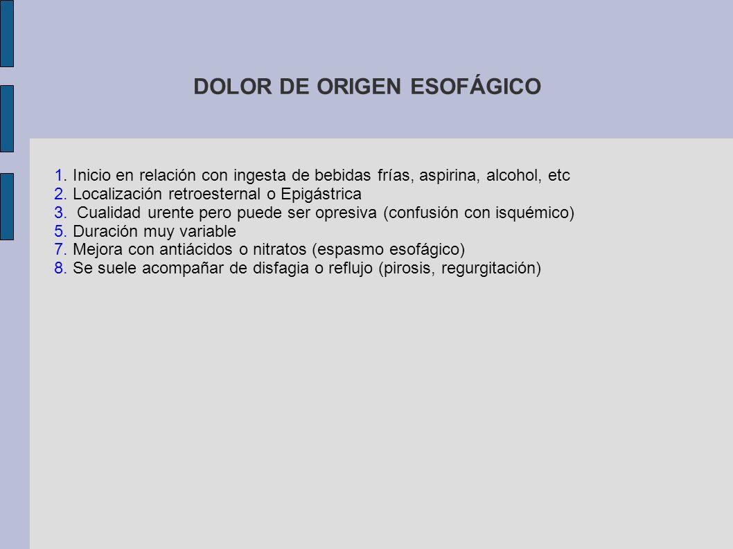 DOLOR DE ORIGEN ESOFÁGICO