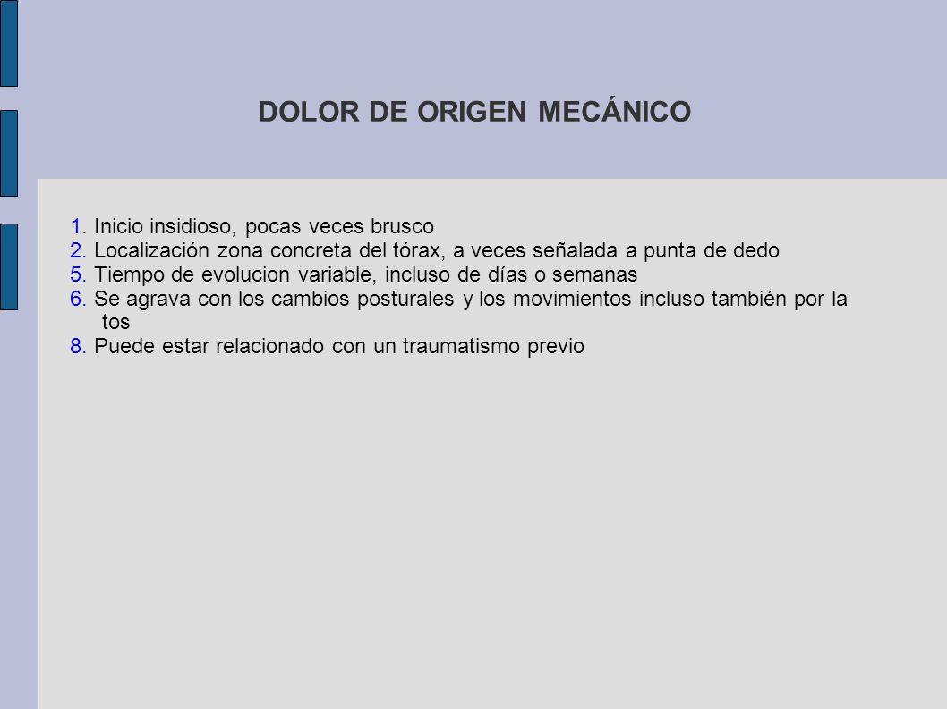 DOLOR DE ORIGEN MECÁNICO