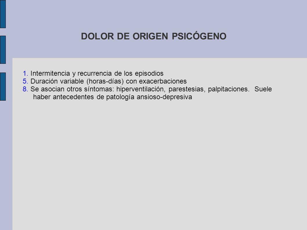 DOLOR DE ORIGEN PSICÓGENO