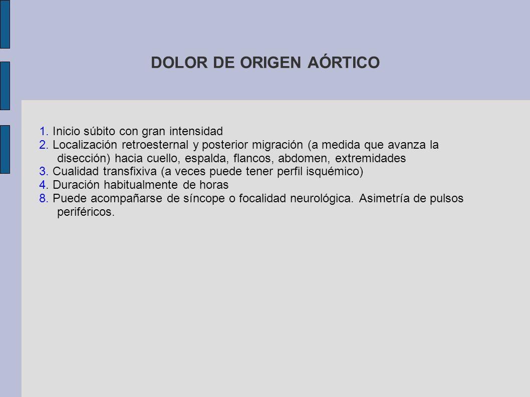 DOLOR DE ORIGEN AÓRTICO