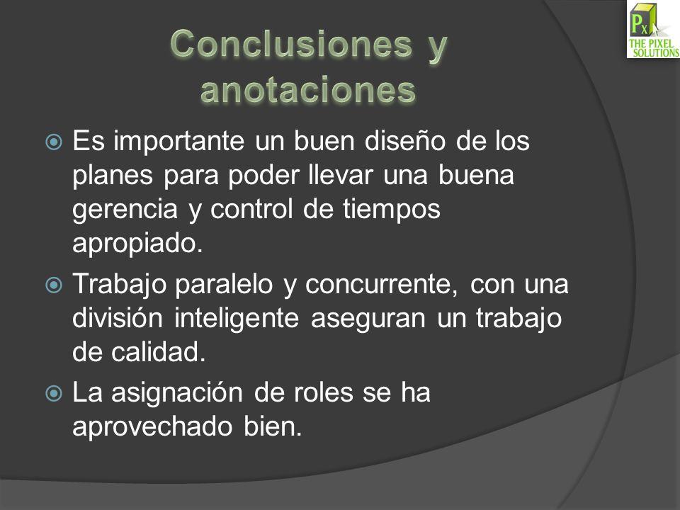 Conclusiones y anotaciones
