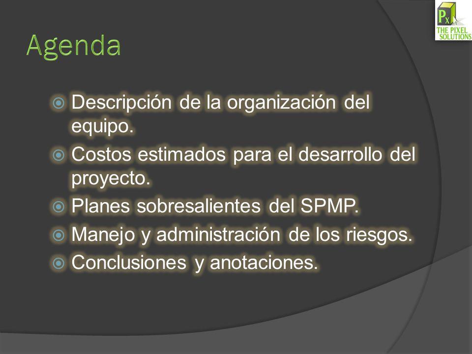 Agenda Descripción de la organización del equipo.