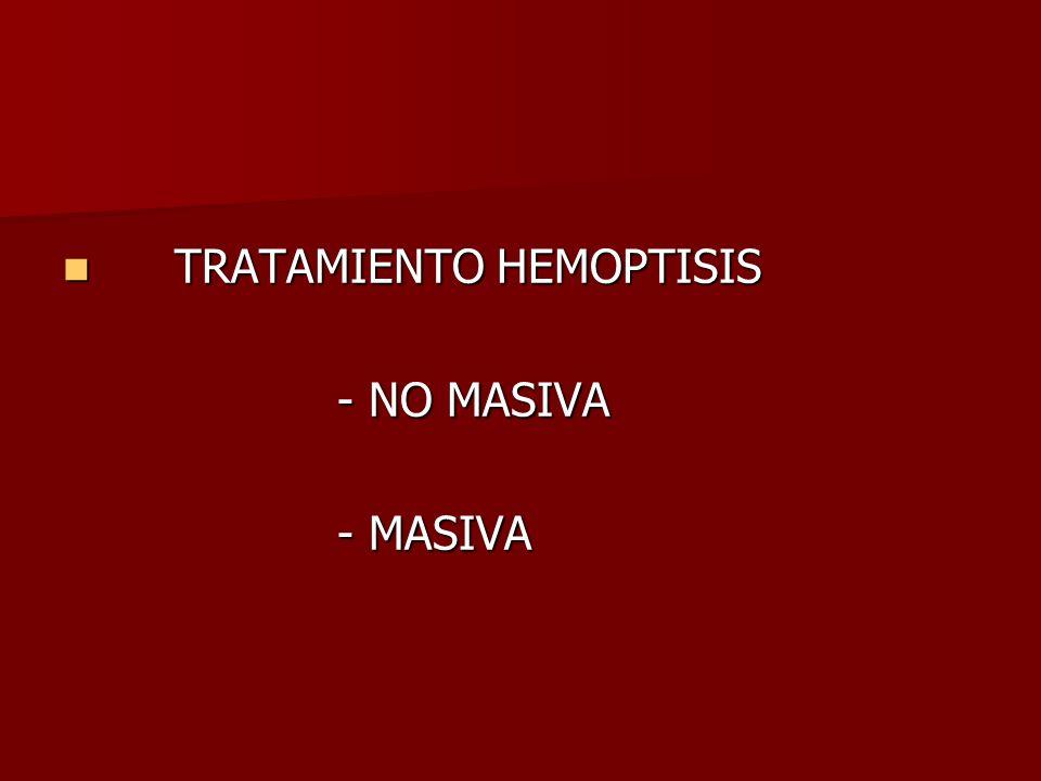 TRATAMIENTO HEMOPTISIS