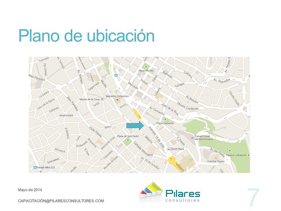 Plano de ubicación marzo de 2017 capacitación@pilaresconsultores.com