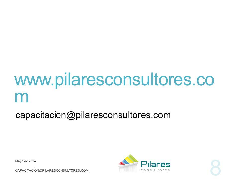 www.pilaresconsultores.com capacitacion@pilaresconsultores.com