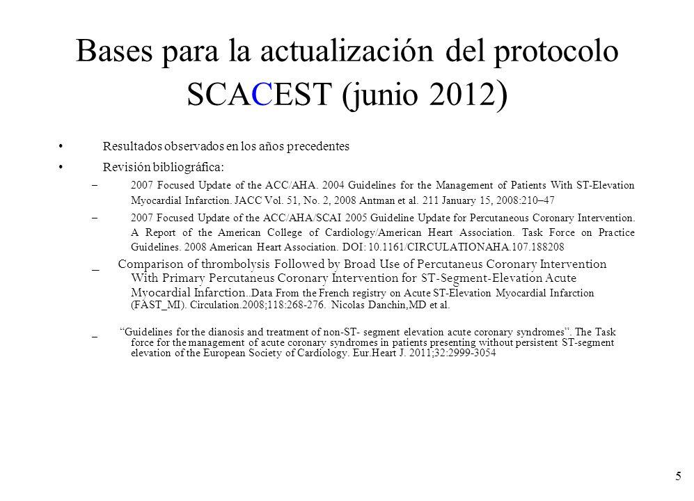 Bases para la actualización del protocolo SCACEST (junio 2012)