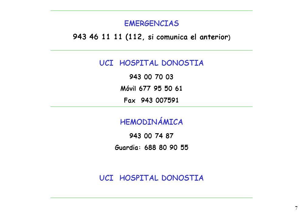 943 46 11 11 (112, si comunica el anterior)
