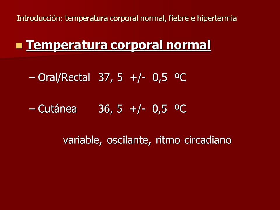Introducción: temperatura corporal normal, fiebre e hipertermia