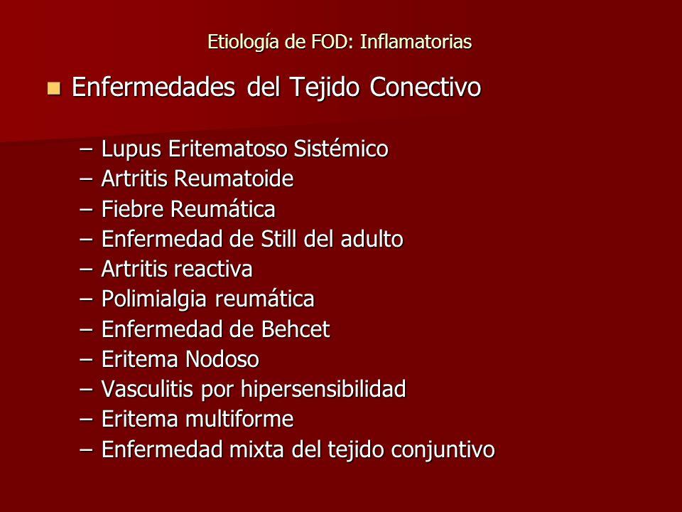 Etiología de FOD: Inflamatorias