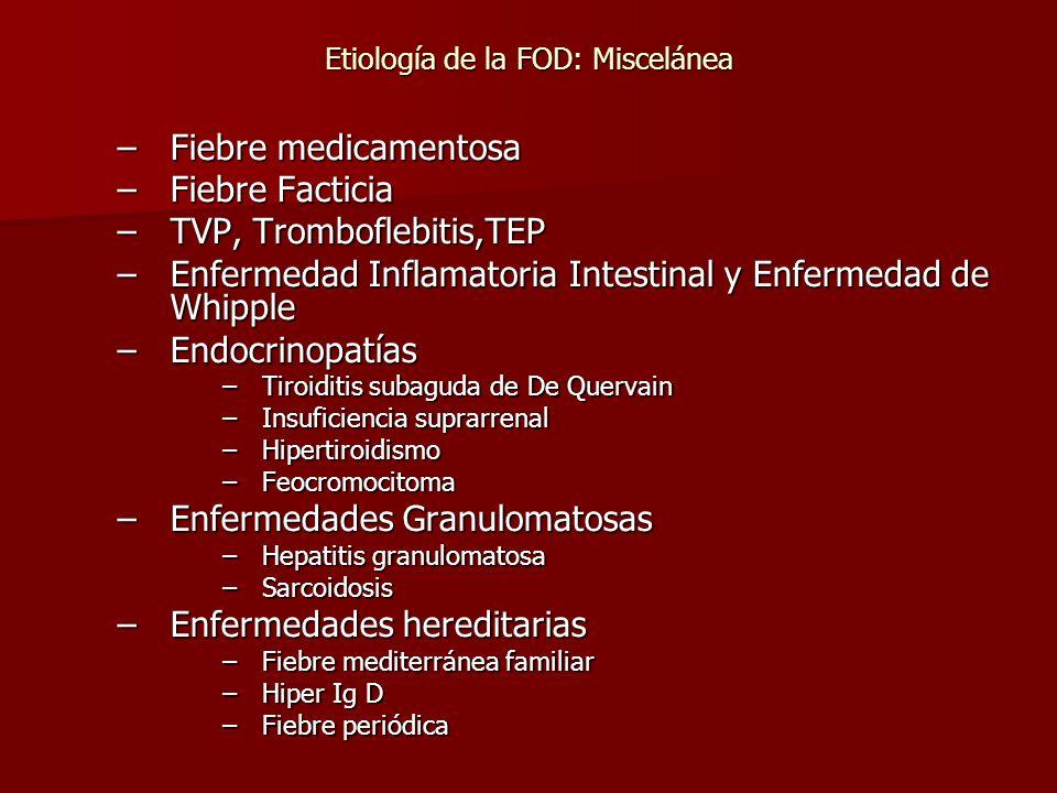 Etiología de la FOD: Miscelánea