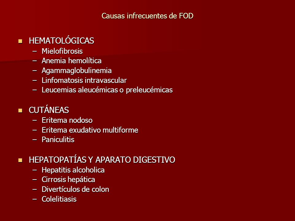 Causas infrecuentes de FOD