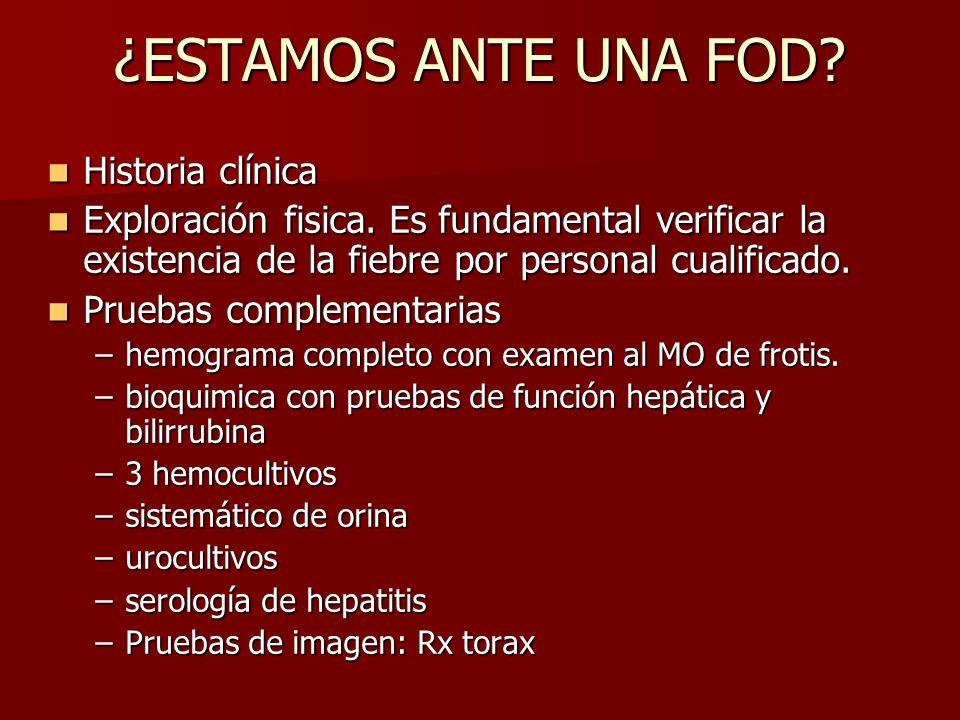 ¿ESTAMOS ANTE UNA FOD Historia clínica
